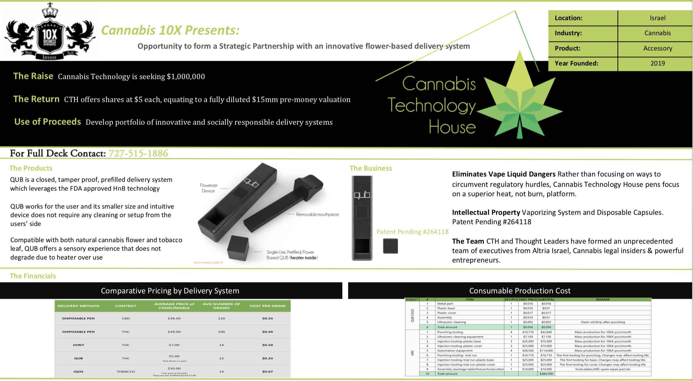 Cannabis Smoking Device Capital Raise