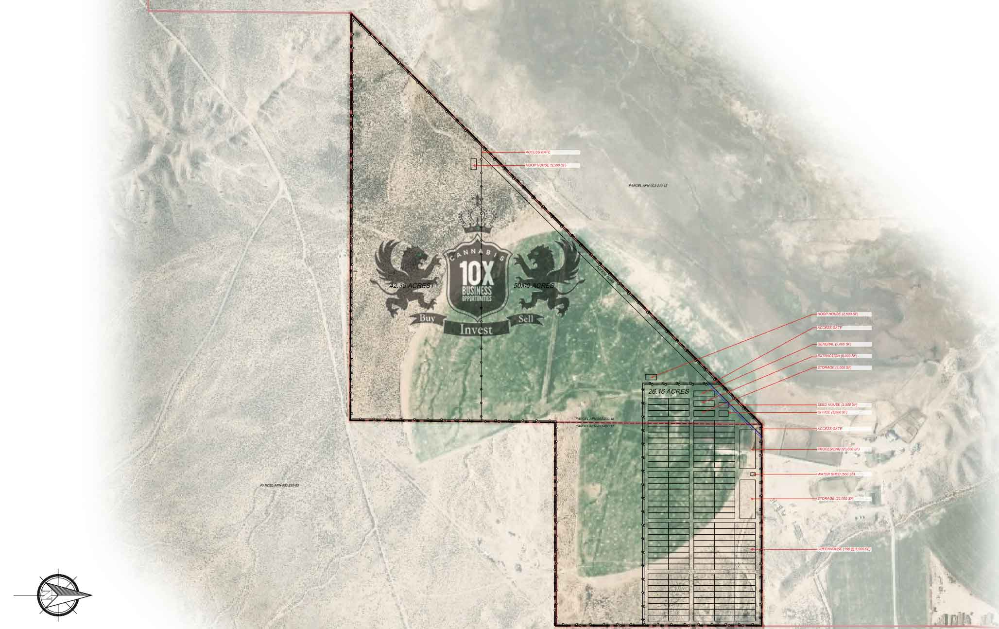 Nevada Cultivation License For Sale Site Plan 2