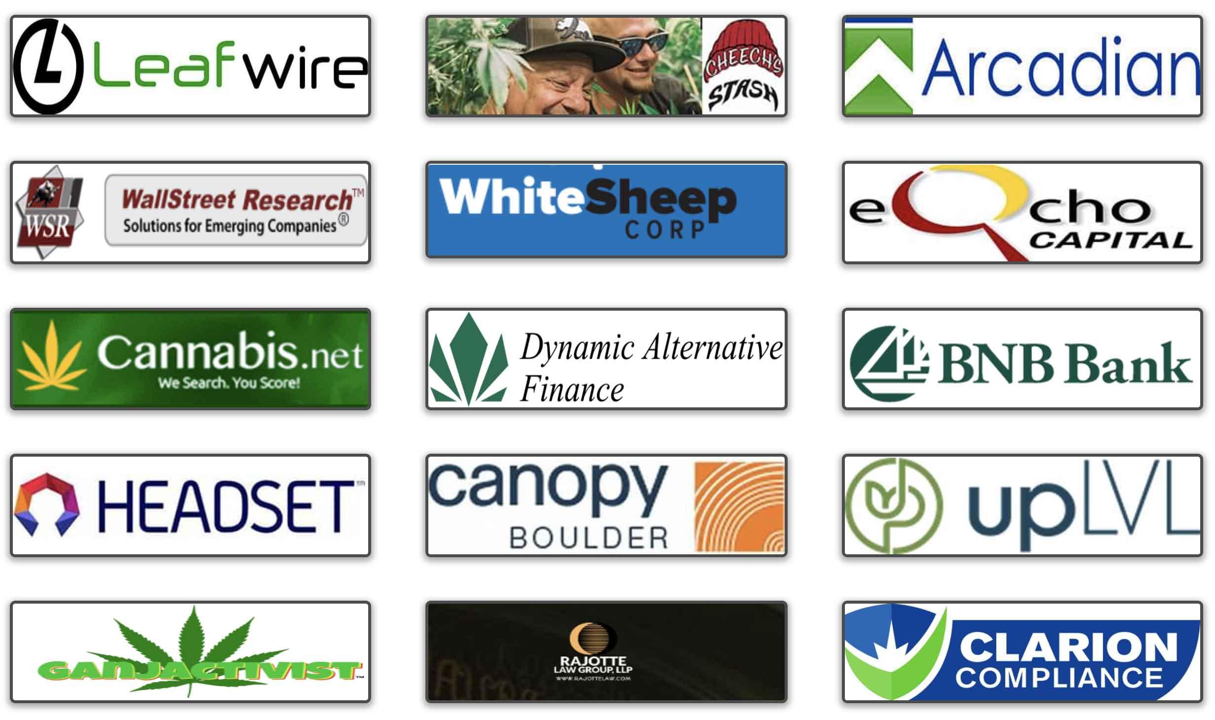 Cannabis10x event sponsors